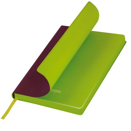 Ежедневник недатированный, Portobello Trend, Latte, формат A5, цвет бордовый с лимонным срезом