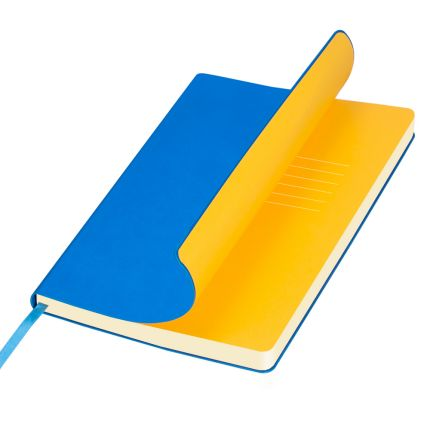Ежедневник недатированный, Portobello Trend, коллекция Sky, формат A5, цвет лазурный