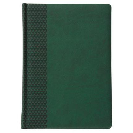Ежедневник недатированный Brand, размер 15х21 см (формат A5), цвет зеленый