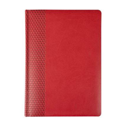 Ежедневник недатированный, материал BRAND,  размер 15х21 см (формат A5), цвет красный