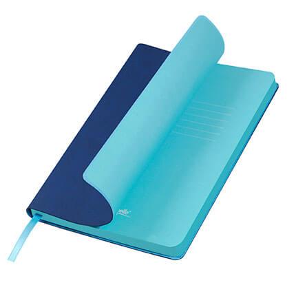 Ежедневник недатированный, Portobello Trend, коллекция Latte, формат A5, цвет синий с голубым срезом