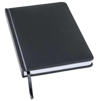 Ежедневник недатированный Bliss, А5, чёрный, белый блок, без обреза