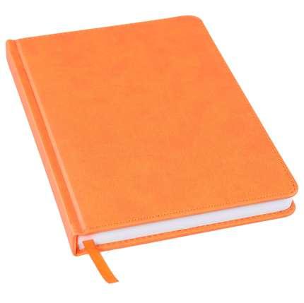 Ежедневник недатированный Bliss, А5, оранжевый, белый блок, без обреза