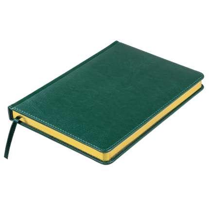 Ежедневник недатированный Joy, А5, темно-зеленый, белый блок, золотой обрез