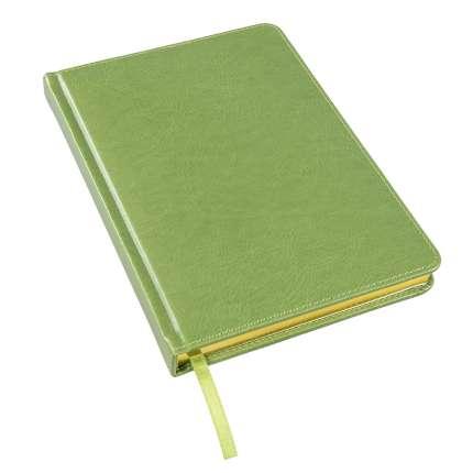 Ежедневник недатированный Joy, А5, зеленое яблоко, белый блок, золотой обрез