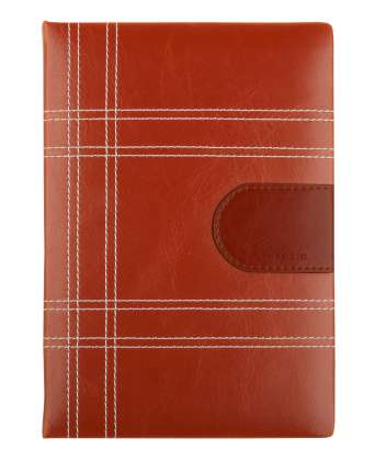 """Ежедневник недатированный (бренд InFolio) коллекция """"Casual"""", формат A5, переплёт твёрдый с поролоном, цвет коричневый"""