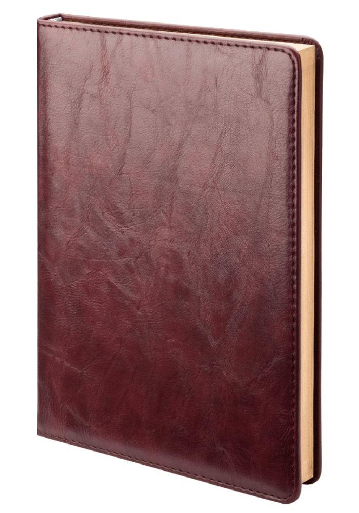 Ежедневник недатированный Atrium (бренд InFolio), формат А5, переплёт твёрдый с поролоном, цвет бордовый