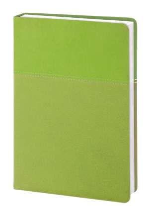 """Ежедневник недатированный (бренд InFolio) коллекция """"Patchwork"""", формат А5, переплёт твёрдый с поролоном, цвет зелёный"""