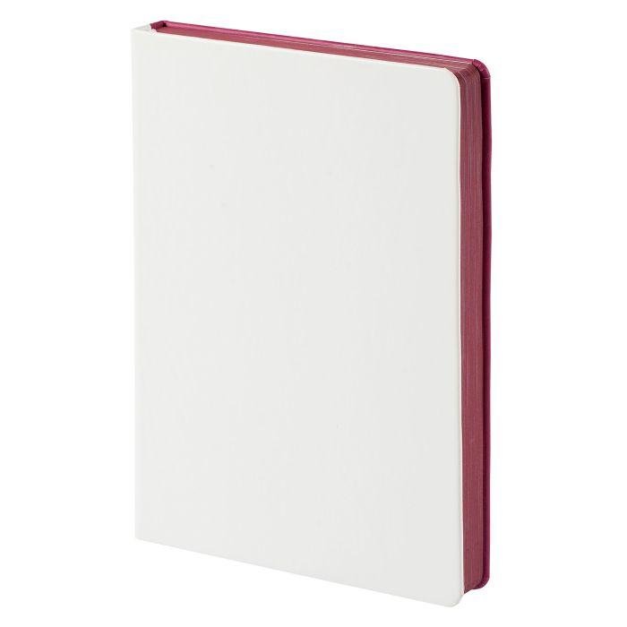 Ежедневник недатированный Butterfly, формат A5, белый с бордовым