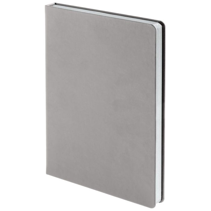 Ежедневник недатированный Shall, размер 15х21 см (формат A5), цвет серый