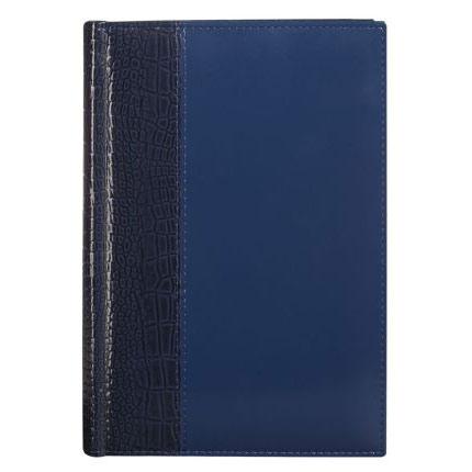 Ежедневник полудатированный LUXE REPTAIL, натуральная кожа, размер 15х21 см (формат A5), цвет синий