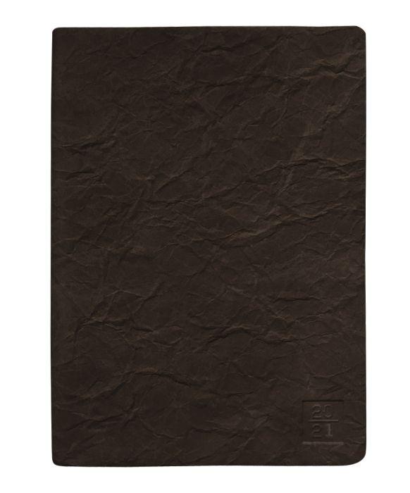 Ежедневник датированный 2021 Infolio Modern коричневый, мягкий, размер А5