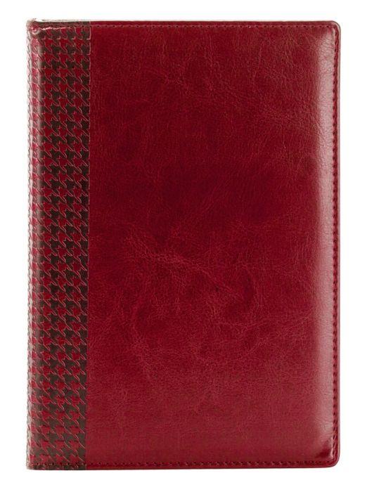 Ежедневник датированный 2021 Infolio Lozanna бордовый, обложка твердая с поролоном , размер А5