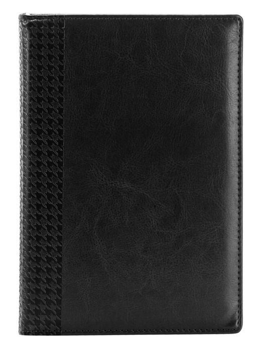 Ежедневник датированный 2021 Lozanna черный, обложка твердая с поролоном , размер А5