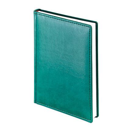 Ежедневник датированный VELVET (АР), формат A5, белая бумага, цвет зеленый