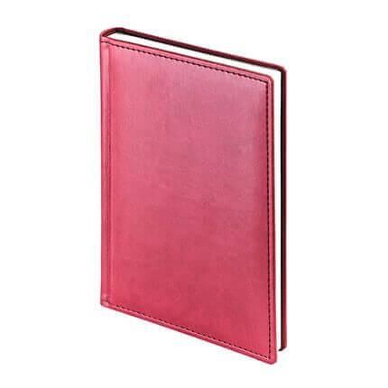 Ежедневник недатированный VELVET (АР), формат A5, белая бумага, цвет бордовый