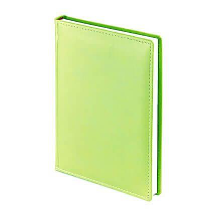 Ежедневник недатированный VELVET (АР), формат A5, белая бумага, цвет салатовый