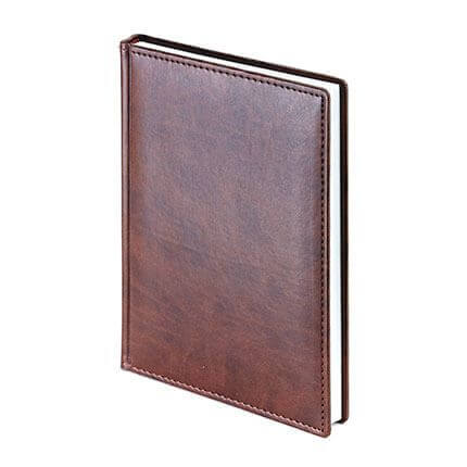 Ежедневник недатированный VELVET (АР), формат A5, белая бумага, цвет коричневый