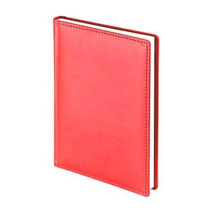Ежедневник недатированный VELVET (АР), формат A5, белая бумага, цвет красный