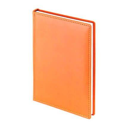 Ежедневник недатированный VELVET (АР), формат A5, белая бумага, цвет оранжевый