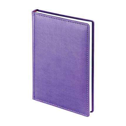 Ежедневник недатированный VELVET (АР), формат A5, белая бумага, цвет сиреневый