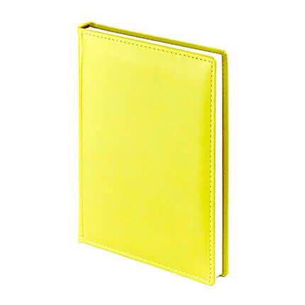 Ежедневник недатированный VELVET (АР), формат A5, белая бумага, цвет жёлтый
