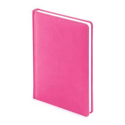 Ежедневник недатированный VELVET (АР), формат A5, белая бумага, цвет розовый