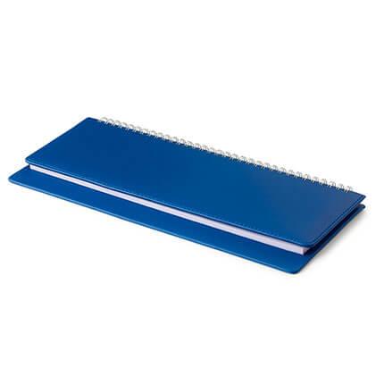 Планинг недатированный VELVET (АР), с открытым гребнем 30,5х13 см, белая бумага, цвет темно-синий