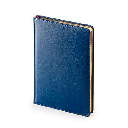 Ежедневник датированный SIDNEY NEBRASKA (АР), формат A5, белая бумага, золотой обрез, цвет синий