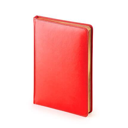 Ежедневник датированный SIDNEY NEBRASKA (АР), формат A5, белая бумага, цвет красный