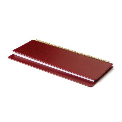 Планинг недатированный SIDNEY NEBRASKA (АР), с открытым гребнем 30,5х13 см, белая бумага, цвет бордовый