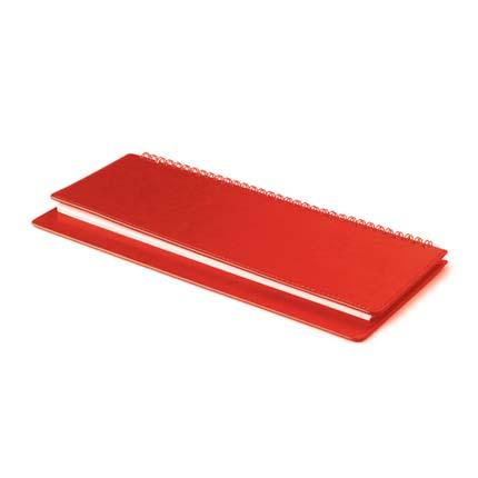 Планинг недатированный SIDNEY NEBRASKA (АР), с открытым гребнем 30,5х13 см, белая бумага, цвет красный