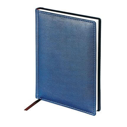 Ежедневник недатированный LEADER (АР), формат A5, белая бумага, цвет синий