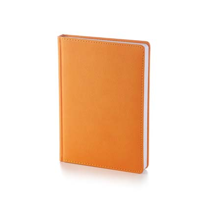 Ежедневник недатированный LEADER (АР), формат A5, белая бумага, цвет оранжевый