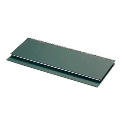 Планинг недатированный БУМВИНИЛ (АР), с открытым гребнем 30,5х13 см, белая бумага, цвет зеленый