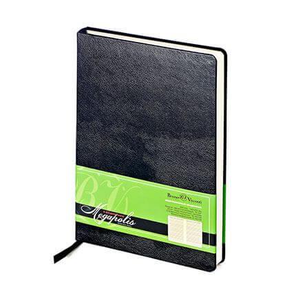 Ежедневник недатированный MEGAPOLIS (АР), формат A5, бежевая бумага, цвет черный
