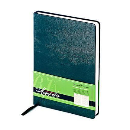 Ежедневник недатированный MEGAPOLIS (АР), формат A5, бежевая бумага, цвет зеленый