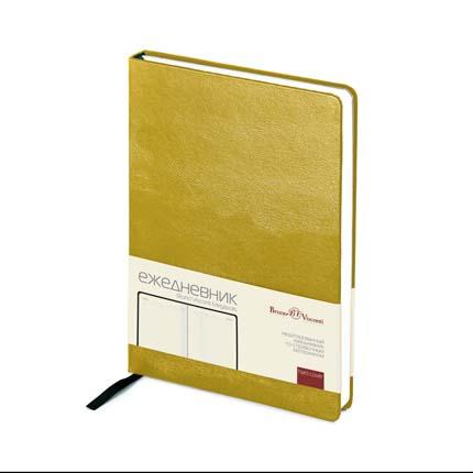 Ежедневник недатированный MEGAPOLIS (АР), формат A5, бежевая бумага, цвет серебряный