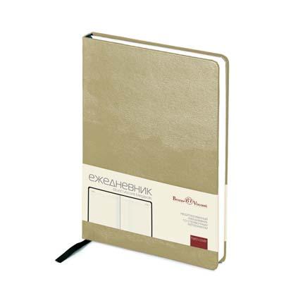Ежедневник недатированный MEGAPOLIS (АР), формат A5, бежевая бумага, цвет золотой