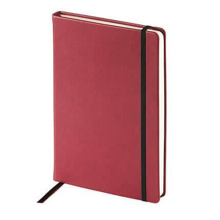 Ежедневник недатированный MEGAPOLIS VELVET (АР), с покрытием SOFT TOUCH, формат A5, бежевая бумага, цвет бордовый