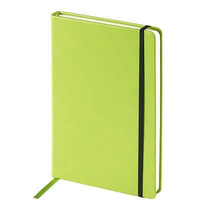 Ежедневник недатированный MEGAPOLIS VELVET (АР), формат A5, бежевая бумага, цвет салатовый