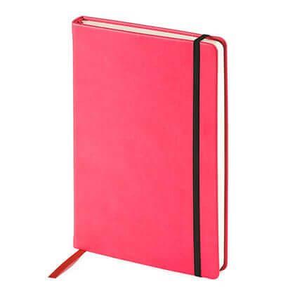 Ежедневник недатированный MEGAPOLIS VELVET (АР), с покрытием SOFT TOUCH, формат A5, бежевая бумага, цвет фуксия