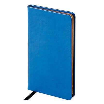 Еженедельник недатированный MEGAPOLIS VELVET (АР), формат A6, бежевая бумага, цвет синий