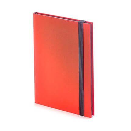 Еженедельник недатированный TANGO (АР), формат B6, обрез графитовый, бежевая бумага, цвет красный