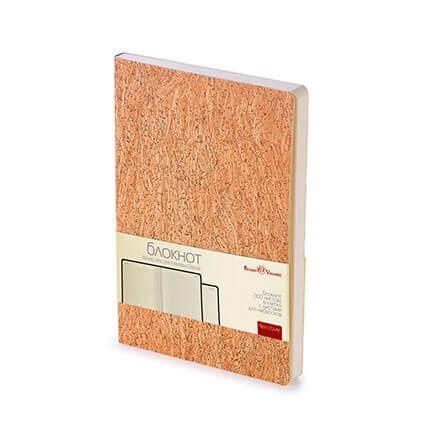 Блокнот MADEIRA CLASSIC (АР), формат A6, гибкий пробковый переплёт, бежевая бумага в клетку, цвет бежевый