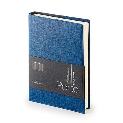 Ежедневник полудатированный PORTO (АР), формат A5, бежевая бумага, цвет синий