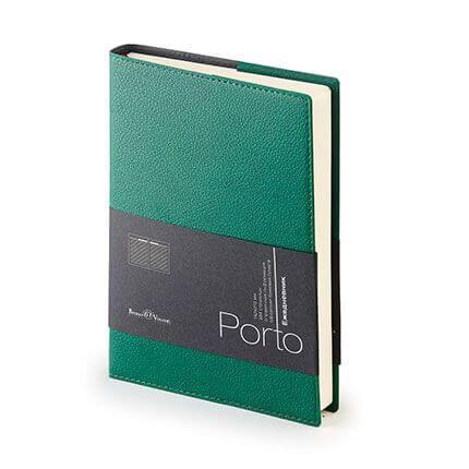 Ежедневник полудатированный PORTO (АР), формат A5, бежевая бумага, цвет зеленый