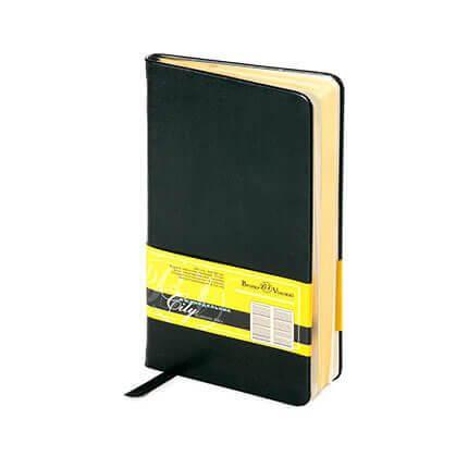 Еженедельник недатированный CITY (АР), формат A6, обрез золото, бежевая бумага, цвет черный