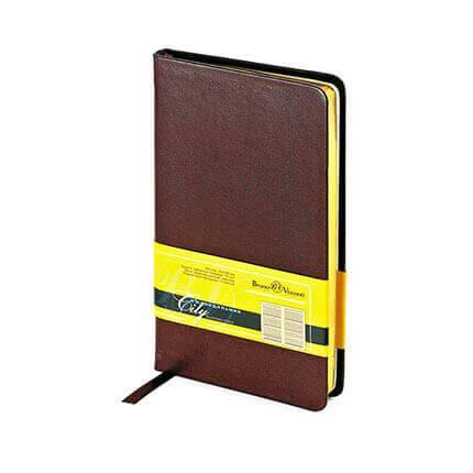 Еженедельник недатированный CITY (АР), формат A6, обрез золото, бежевая бумага, цвет коричневый