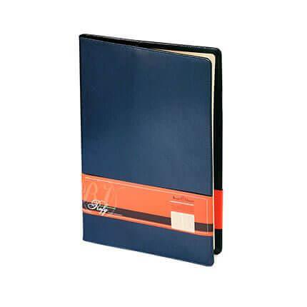 Еженедельник недатированный PROFY (АР), формат A4, обрез золото, бежевая бумага, цвет синий